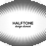 Black Abstract Halftone Design Element, vector Royalty Free Stock Photo