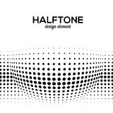 Black Abstract Halftone Design Element, vector Stock Image