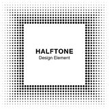Black Abstract Halftone Square Frame Background Stock Photography