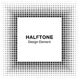 Black Abstract Halftone Square Frame Background Stock Image