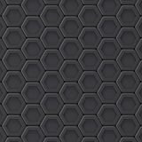 Black abstract hexagonal background. 3D Stock Image