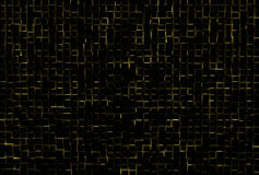 Black abstract image of cubes background. 3d render Royalty Free Stock Photography