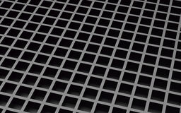 Black abstract image of cubes background. 3d render Stock Photography
