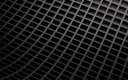 Black abstract image of cubes background. 3d render Stock Photos