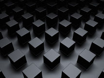 Black metallic background with cubes Royalty Free Stock Photos