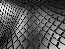Black Abstract Metallic Cubes Background. 3d Render Illustration Stock Images