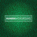 Black abstract number background Stock Photo