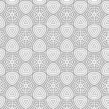 Black Abstract Draw Flower Geometric Hexagonal Grid Pattern Background Vector Illustration. Black Abstract Seamless Geometric Hexagonal Ornament Pattern Of Stars Stock Illustration