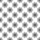 Black Abstract Seamless Pattern on a White Background Royalty Free Stock Photography