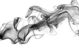 Black abstract smoke wave isolated on a white background Royalty Free Stock Photo
