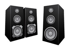 Black abstract speakers Royalty Free Stock Photo