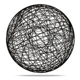 Black Abstract Sphere on white background. 3d Image royalty free illustration