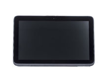 Black abstract tablet computer stock image
