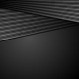 Black abstract tech background with smooth stripes Royalty Free Stock Images
