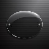 Black glass abstract technology background Stock Images