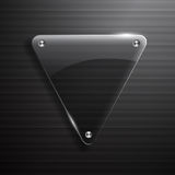 Black glass abstract technology background Stock Photography