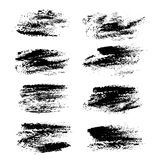 Black abstract textures print strokes Royalty Free Stock Image