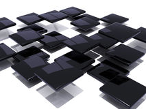 Black abstract tiles Stock Image