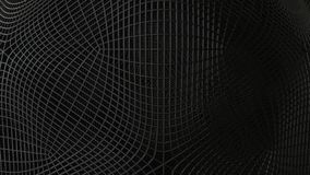 Black abstract wireframe futuristic background, 3d render. Illustration stock illustration