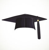 Black Academic hat with a tassel Stock Images