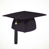 Black Academic hat with a tassel 1 Royalty Free Stock Photography