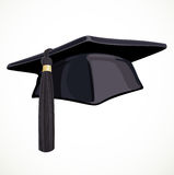 Black Academic hat with a tassel 2 Royalty Free Stock Photos