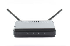 Black Access point router. Box  on white background Royalty Free Stock Photos