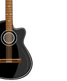Black acoustic  classic guitar Royalty Free Stock Images