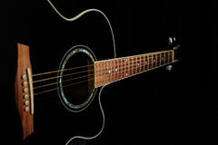Black acoustic guitar Stock Photo