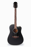Black acoustic guitar. With white background Royalty Free Stock Image