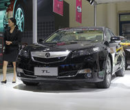 Black acura tl car Royalty Free Stock Image