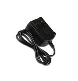 Black  adapter. New condition. Close-up. Isolated Royalty Free Stock Photography