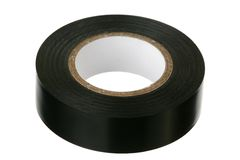 Black adhesive insulating tape Royalty Free Stock Images