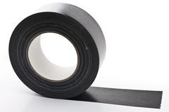 Black adhesive tape Royalty Free Stock Photo
