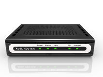 Black ADSL router Stock Photography