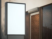Black advertising stand on the street. 3d rendering Royalty Free Stock Photography