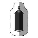 Black aerosol sprays icon. Illustraction design Royalty Free Stock Image