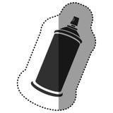 Black aerosol sprays icon. Illustraction design Stock Photo