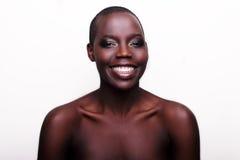 Black African American British fashion model portrait Stock Photos