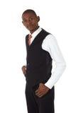 Black African Businessman royalty free stock photo