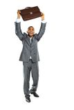 Black african businessman standing holding Stock Photography