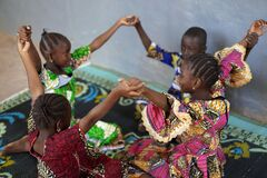 Free Black African Ethnicity Children Having Fun Playing With Friends Royalty Free Stock Images - 172696949