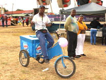 Black African Ice-cream Salesman Royalty Free Stock Photos