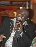 Black african male singing live Stock Photos