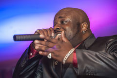 Black African male singing live Royalty Free Stock Photo