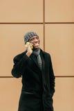 Black african man talking Stock Images