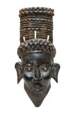 Black african mask. Black traditional african mask isolated Stock Photography