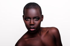 Black African young sexy fashion model studio portrait Stock Images