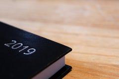 Black 2019 Agenda Planner Background stock photos