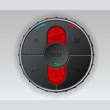 Black air condition gauge with red lcd Royalty Free Stock Images